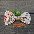 Homens do Algodão do vintage Floral Impresso Bowtie para Homens Smoking Do Noivo Casamento Gravata Magro Flor Vestidos Skinny Gravata Jóias