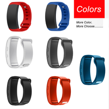 Sport Soft Silicone Watch band Replacement wrist Band bracelet Strap For Samsung Gear Fit 2 SM-R360 L/S watch straps wristband 2 clors new replacement colorful wristband band strap bracelet wrist straps material silicone straps b1568 180823 yx