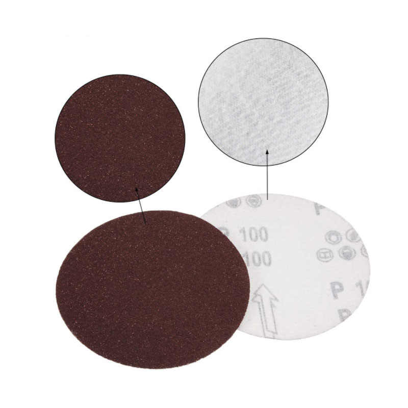 8 Inch Polishing Round Sanding Flocking Sandpaper Disc 40-2000 Grit Alumina​