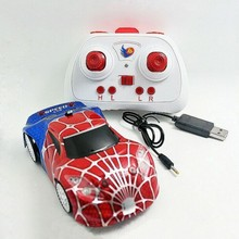 baby toy RC cars spider styling wall climing remote car with led shining and music very cool toy for kids