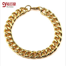 18k Real Gold Plated Filled Bracelet Bangle Charming Design Chain For Men/Women Hiphop Jewelry