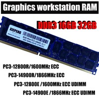 Server memory 16GB 2Rx4 PC3 14900 REG ECC DDR3 32GB 1866MHz 4GB PC3 15000 Registered ECC RAM for Mac Pro Graphics workstation