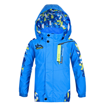 2017 New Kids Spring Winter Bomber Jacket For Girls/Boys Raincoat Windbreaker Double-Deck Waterproof Windproof Hoodedtrench Coat