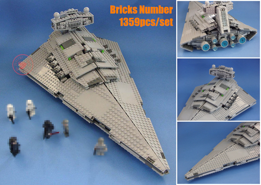 New Star fighter The Star Destroyer Set fit legoings star wars fighter model Building Blocks Bricks Toys diy 75055 kid Gifts 482pcs star space the ja quadjumper set model building blocks bricks toys kids gifts compatible legoings star series wars 75178