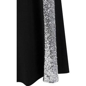 Image 5 - ארוך לנשף שמלת מלאך אופנת נשים של סטרפלס שתי וערב קלאסי בת ים המפלגה שמלת שחור לבן 331
