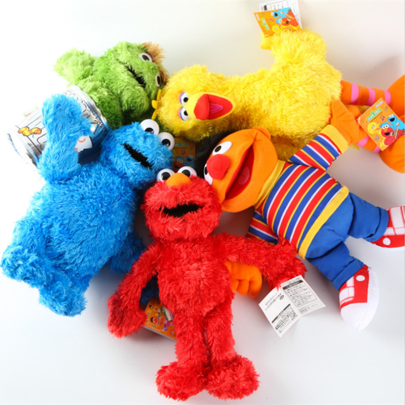 NEW 5 Styles 33cm Sesame Street Elmo Cookie Grover Zoe& Ernie Big Bird Stuffed Plush Toy Dolls Children Gift 5 styles how to train your dragon 2 toothless monstrous nightmare gronckle deadly nadder doll plush stuffed toy