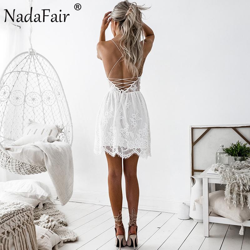 HTB158GRagsSMeJjSspeq6y77VXaD - FREE SHIPPING Party Dress Sleeveless Lace-up Backless V Neck White Black 142