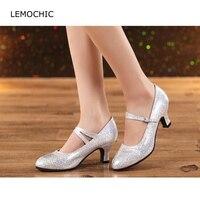 LEMOCHIC miękkie sole modelki wydajność profesjonalne klasyczne podwójne kroki kitten obcasy ballroom latin tango taniec buty