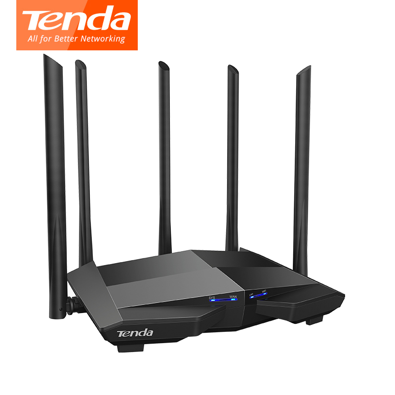 Image 4 - Tenda AC11 Gigabit Wifi Router 1200Mbps Wifi Repeater Dual band 2.4G/5G 1 WAN+3 LAN Gigabit Ports 5*6 dbi Gain Antenna 1GHz CPU-in Wireless Routers from Computer & Office