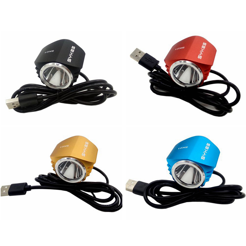 New USB power T6 LED*1 Front Bike Headlight Bicycle Lamp Aluminum alloy for Cycling Waterproof Front Light & USB 3 modes d09 aluminum alloy bicycle cnc front fork washer blue white 28 6mm