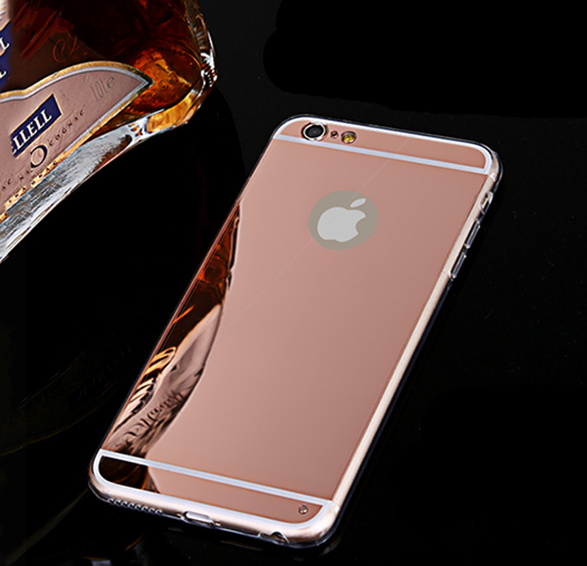 iphone case rose gold gold luxury mirror soft clear phone cases for 7697