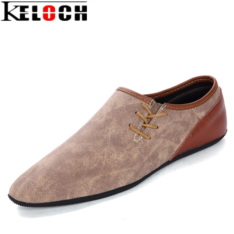 Keloch Brand Fashion Men Shoes Summer Causal Men Loafers Split Leather Moccasins For Male Driving Shoes High Quality Soft Flats new 2016 high quality genuine leather men shoes soft men loafers fashion moccasins brand men flats casual driving shoes rmc 217