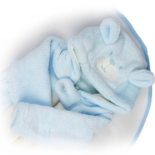 New Handmade 23 inch Reborn Baby Boy Doll Rompers Blue Plush Doll Clothes Accessories Free Blanket Hot Sale For Winter