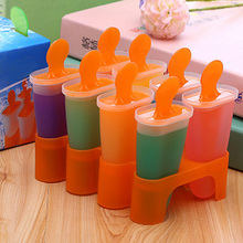 4 6 8 Cells Ice Cream Mold Lolly Mould Randomly Color Platsic Popsicle Maker Kitchen Tools Cube Molds DIY Summer Accessories