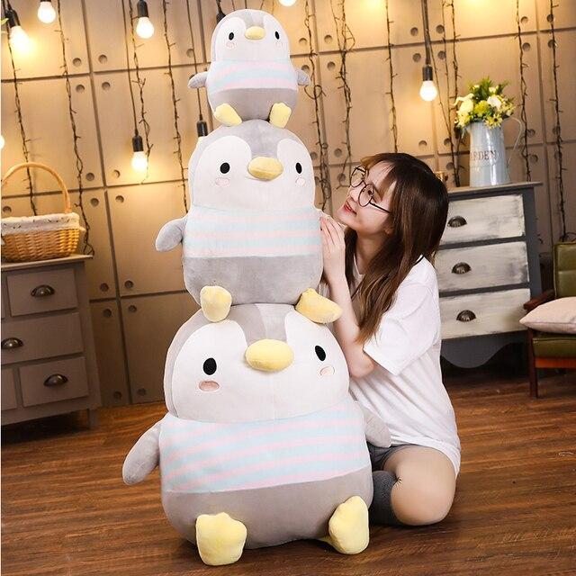 Gigante suave grasa pingüinos de peluche Peluche de dibujos animados Animal muñeca juguete de moda para niños bebé niñas encantadoras Regalo de Cumpleaños de Navidad