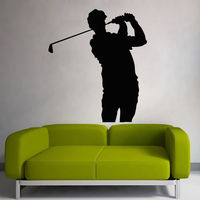 Wall Decal Golf Sport People Art Golfer Vinyl Sticker Boys Bedroom Decor