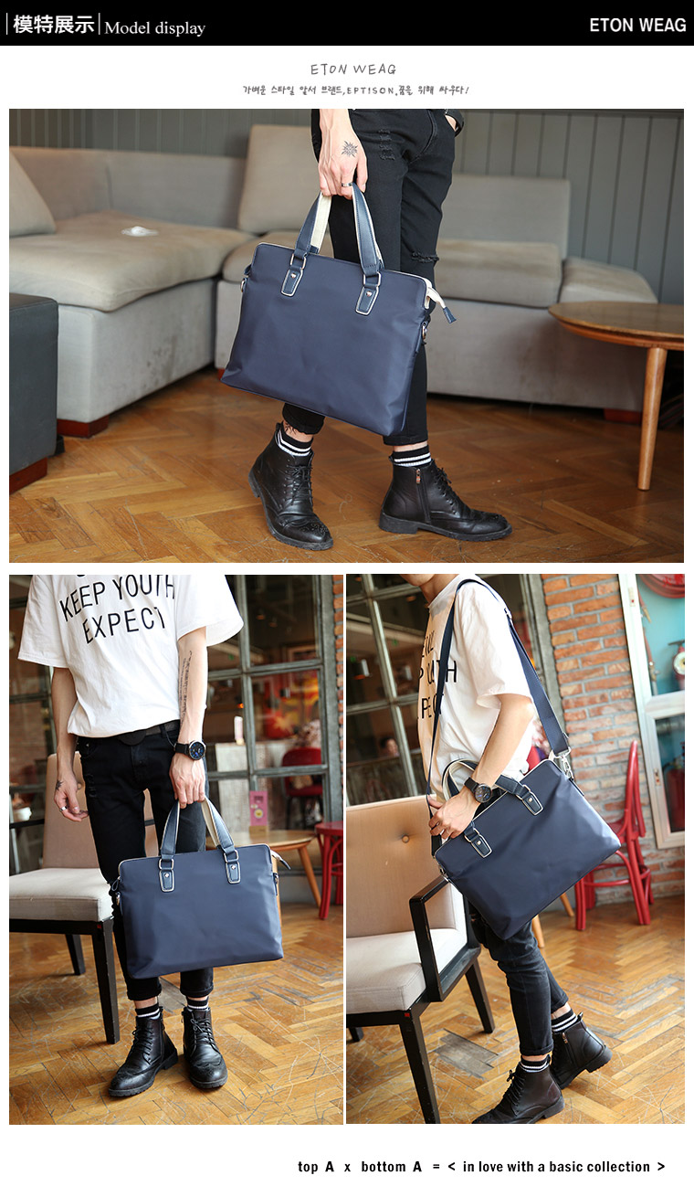 웃 유Tidog бутик мужской сумка портфель Деловые мужчины крест Ткань ... bde67866492
