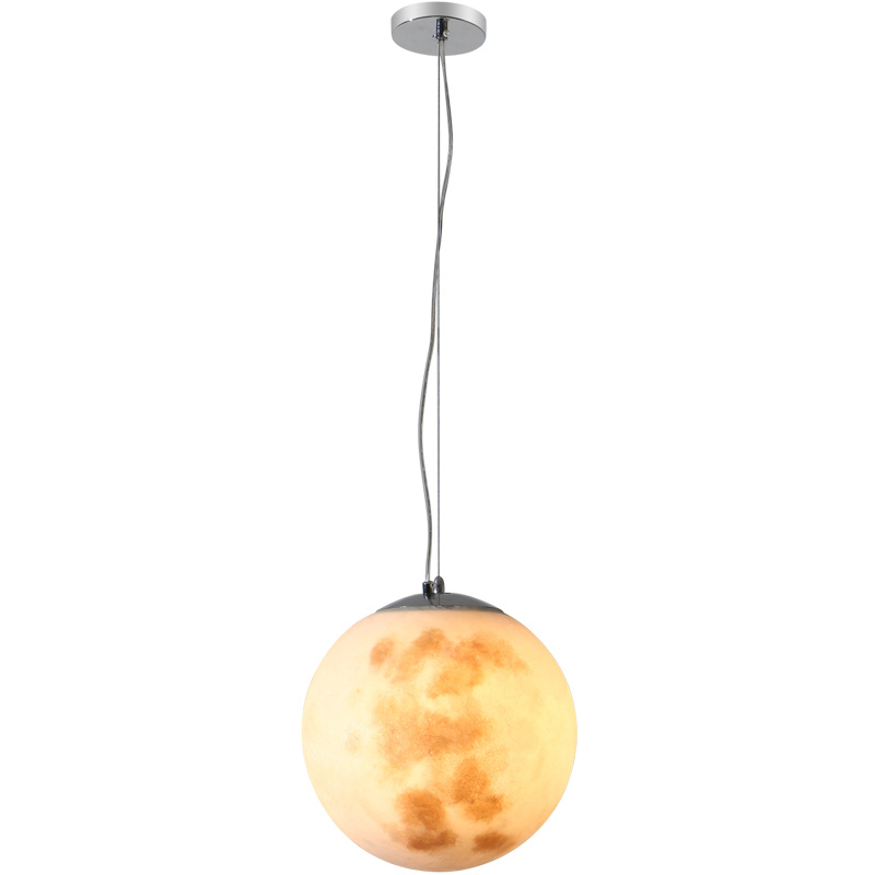 D25/D30CM/D50CM/D60CM acrylic ball moon light hanging drop light lovely lunar moon night light full moon pendant light d