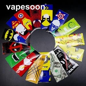 1000 шт 18650 батарея обертка VapeSoon супер герой батарея стикер кожи для электронной сигареты батарея электронная сигарета Человек-паук Капитан А...
