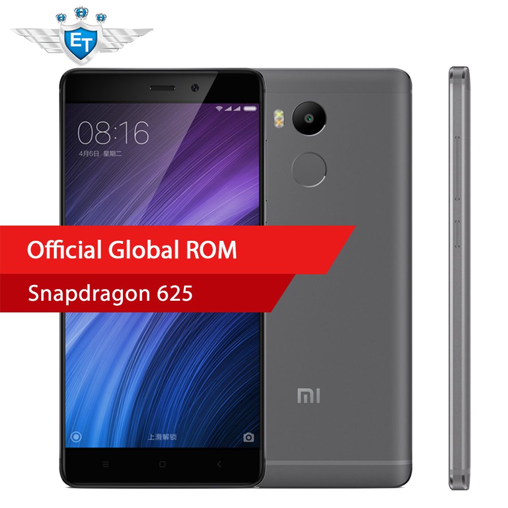"""bilder für Original Xiaomi Redmi 4 Prime 3 GB RAM 32 GB Globale ROM Smartphone Snapdragon 625 Octa-core CPU 5,0 """"FHD 13MP Kamera 4100 mah"""