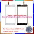 """Bom Trabalho 4.5 """"para huawei ascend y530 novo pancel digitador da tela de toque sensor de vidro da lente preto branco n ° de rastreamento frete grátis"""
