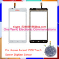 "Good Work 4.5"" For Huawei Ascend Y530 New Touch Screen Digitizer Sensor Glass Pancel Lens Black White Tracking NO Free Shipping"