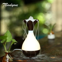 TBonlyone 95ML USB Type Aroma Lamp Diffuser Air Humidifier Wood Grain Ultrasonic Aroma Electric Essential Oil