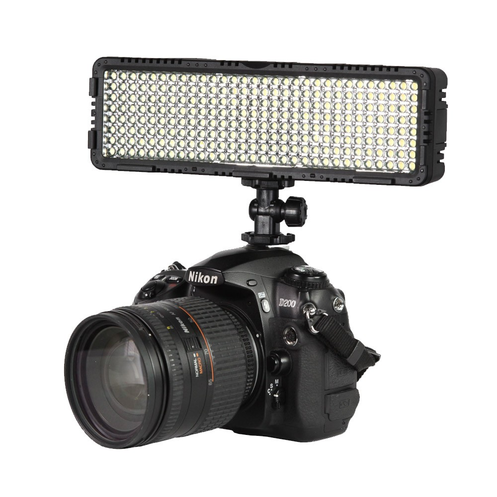 NanGuang CN-LUX2400 100V-240V 3200K/5600K LED Video Light Lamp For Canon Nikon Sony Camera DV Camcorder godox led 308y 308 leds professional led video 3300k light with remote control for canon nikon camera dv camcorder