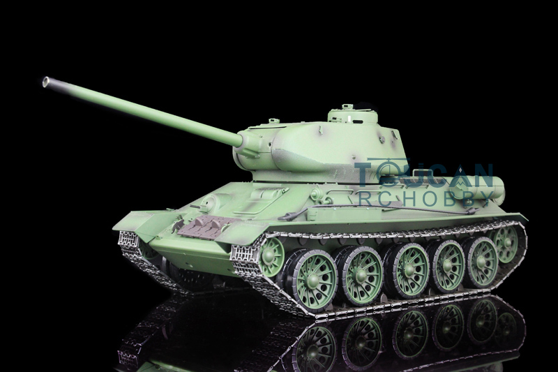 HengLong 1/16 Russia T-34/85 RC Tank Upgraded Airsoft Sound Smoke Metal Ver 3909 1 32 fov80318 russian t 34 85 tank