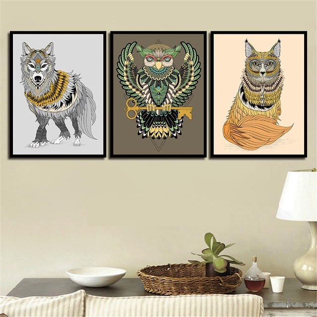 Nordic Posters Minimalism Nursery Animal Wolf Wall Art Canvas Hd Prints For Baby Room Painting Picture Kids Bedroom Decoration