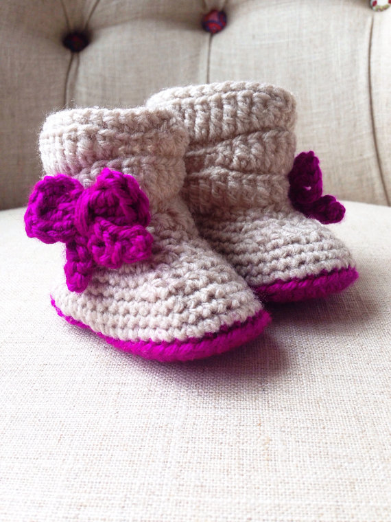 Crochet Slouchy Baby Boot In First Walkers From Mother Kids On