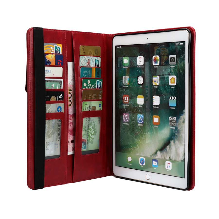 For Apple iPad 9.7 inch 2018 2017 Universal Hoesje Luxury Vintage Leather+Soft Silicone Pencil Sleeve Shockproof Back Case Cover