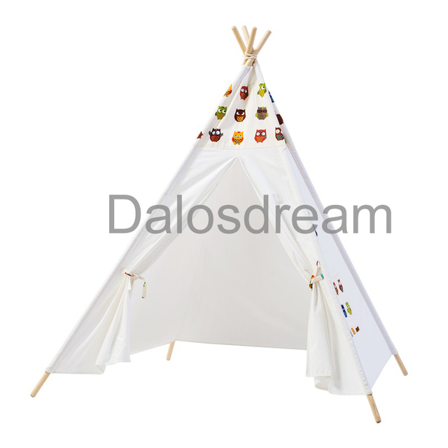 DalosDream Indian Design Children Teepee Owl Pattern Children Teepee Tent 100% Cotton Canvas Playhouse Kids  sc 1 st  AliExpress.com & DalosDream Indian Design Children Teepee Owl Pattern Children ...