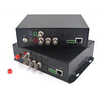 4 channels HD SDI Video Audio Ethernet Fiber Optical Media Converters 1310/1550 Transmitter and Receiver for HD SDI cameras