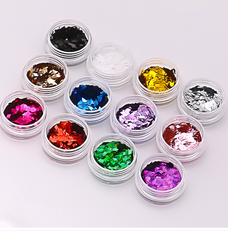 1pcs Black Modeling Clay Sequin Glitter Filler Fluffy Slime Box Toys Children Charms Lizun Kit Accessories Funny Gift