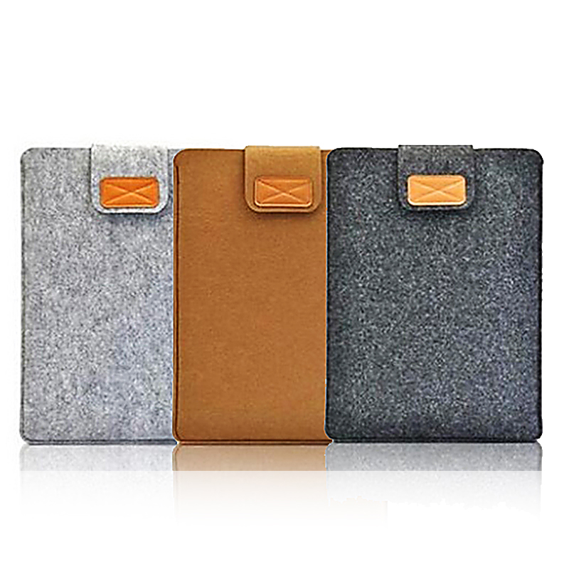 Wool Felt Soft Sleeve Bag Case 8 10Inch Protective Sleeve Notebook Case For Apple Ipad 2 3 4 Retina Laptop Case Cover For Xiaomi
