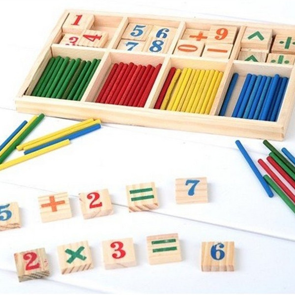 Montessori Wooden Number Math Game Sticks Educational Toy Puzzle Teaching Aids Set Materials joh