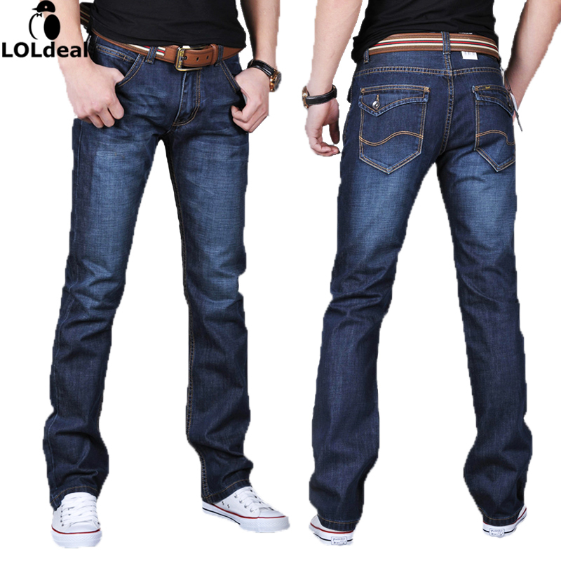 Men's Dark Blue Denim Jeans Mens Brand Jeans male pants casual trousers plus size jean joggers biker jeans men s cowboy jeans fashion blue jeans pant men plus sizes regular slim fit denim jean pants male high quality brand jeans