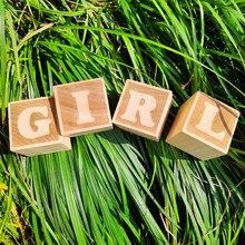 1pcs Personalized Blocks Personalized Gift Baby Name Blocks Baby Shower Gift Wood Wooden Name Blocks Nursery Decoration