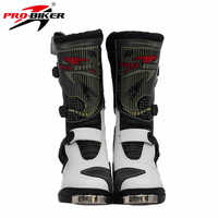 2017 high quality Waterproof Pu Leather waterproof motorcycle boots Professional SPEED Racing Motorcross Motorbike Riding Boots