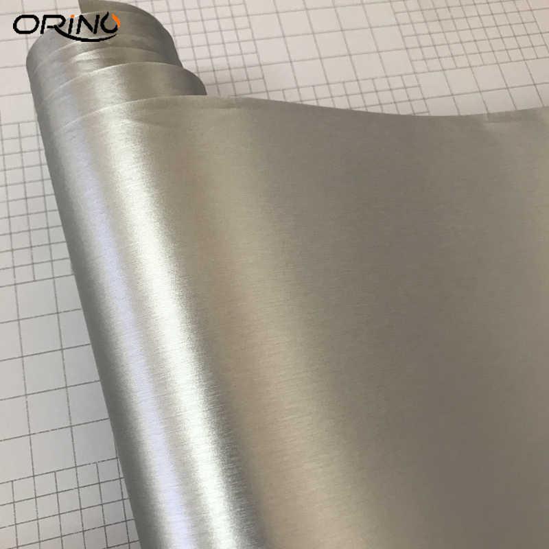 Silver Metallic Brushed Aluminum Vinyl Metal Car Wrap Film
