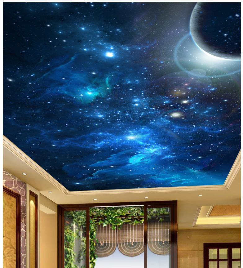 Online buy wholesale planet ceiling from china planet for 3d ceiling wallpaper