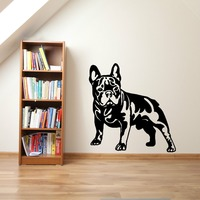 Cute French Bulldog Dog Vinyl Wall Sticker Home Decoration Stickers Art Cut Dog Wall Papers Home