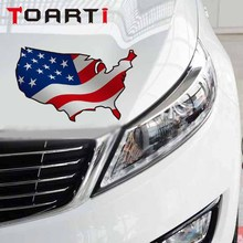 3D USA United States American Flag Map Car Sticker Diy Art Car-Styling Decals Stickers Styling Motorcycle Accessories
