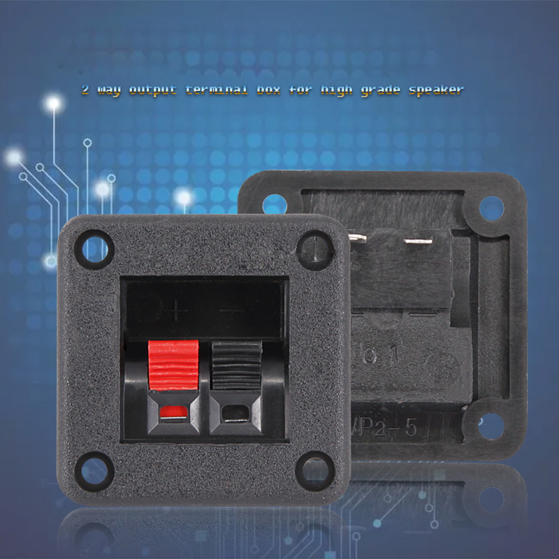 Speaker Clip Panel Speaker Wiring Board 2-way Output Audio Cable Connector 2 Audio Terminal Box Connector Red and Black Clip new terminal board cable ac10tb