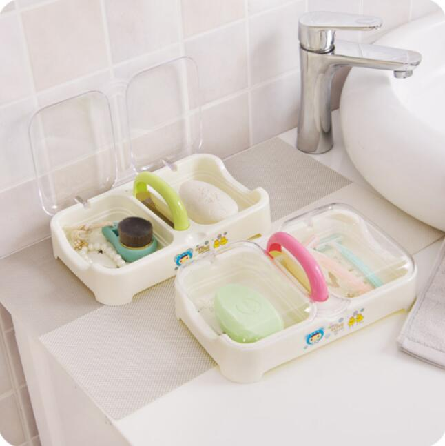 Fashion Portable Soap Holder Large Bathroom Soap Drainer Dishes With Cover Transparent Soap Storage Box & ? ???????? ?Fashion Portable Soap Holder Large Bathroom Soap ...