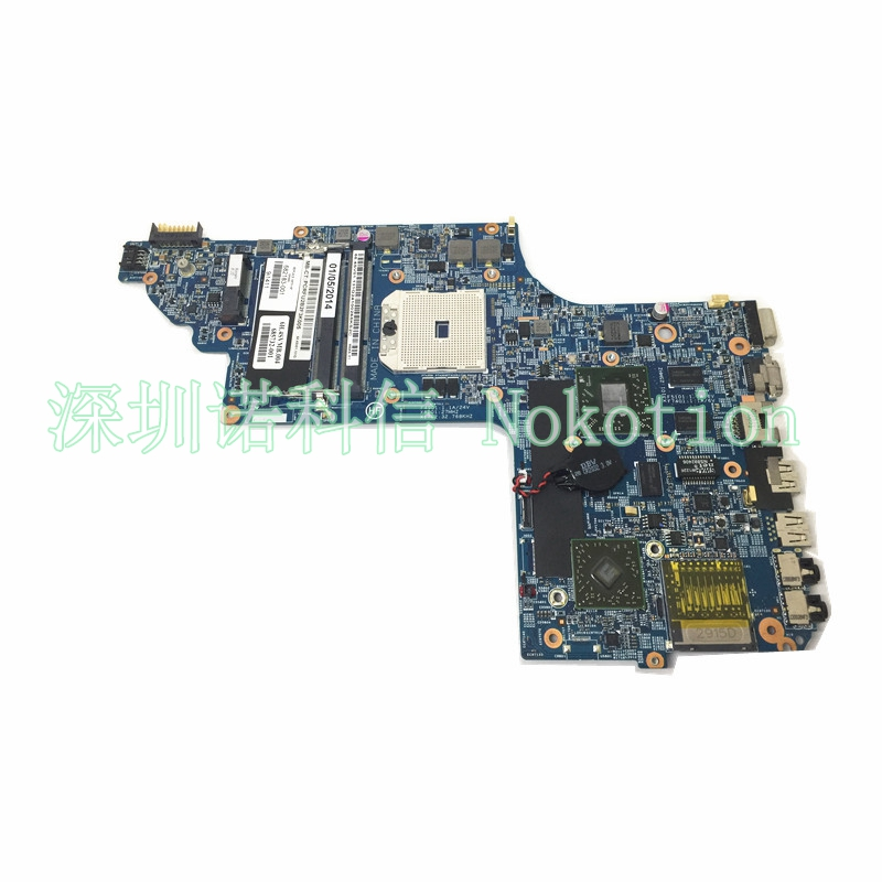 NOKOTION 682183-001 laptop motherboard for HP DV6 DV6-7000 682183-501 DV6Z-7000 NOTEBOOK DDR3 7730m 2G sheli laptop motherboard for hp pavilion dv6 7000 682169 001 48 4st10 021 ddr3 gt630m 1gb non integrated graphics card