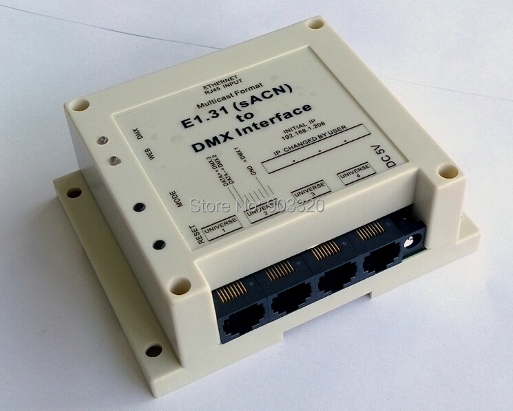 Rasha NEW ARRIVAL E1.31 (sACN) DMX Controller to DMX Interface/Bridge for Madrix, MagicQ ,Luminair ,DMX Over Ethernet цена