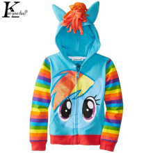 KEAIYOUHUO 2017 Autumn Cartoon Girls Jacket Children Clothing Girl Coat Cute Kids Clothes Hoodies Casual Zipper Jacket For Girls