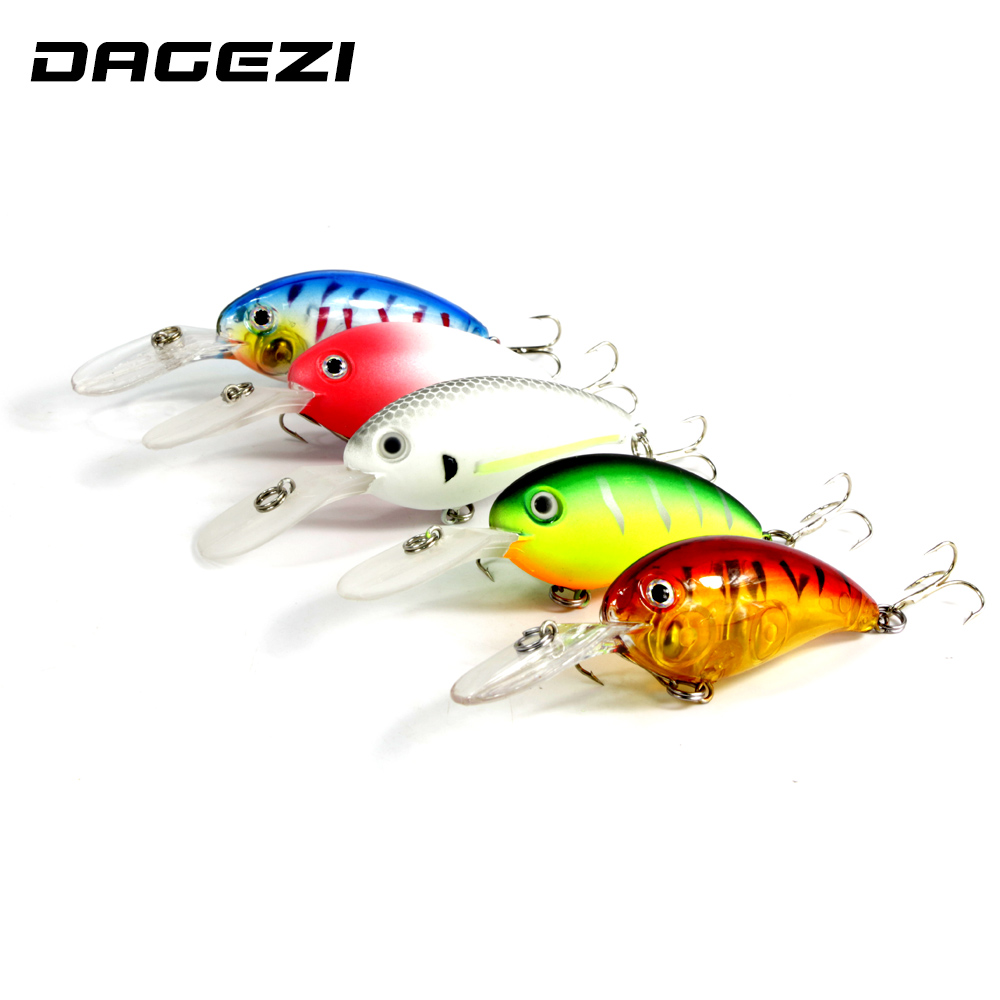 DAGEZI 5pcs/lot Crankbait Fishing Lures Hard Plastic Fishing Lure Wobblers Minnow Best Crank Hard Bait fishing tackle new hard plastic fishing lures crank